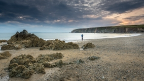 Kilfarassy Beach Self portrait with Sean