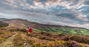 Riding towards Mt Leinster