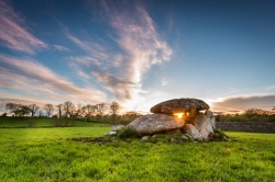 Sunset in Haraldstown Dolmen