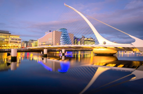 Samuel Becketts bridge in Dublin
