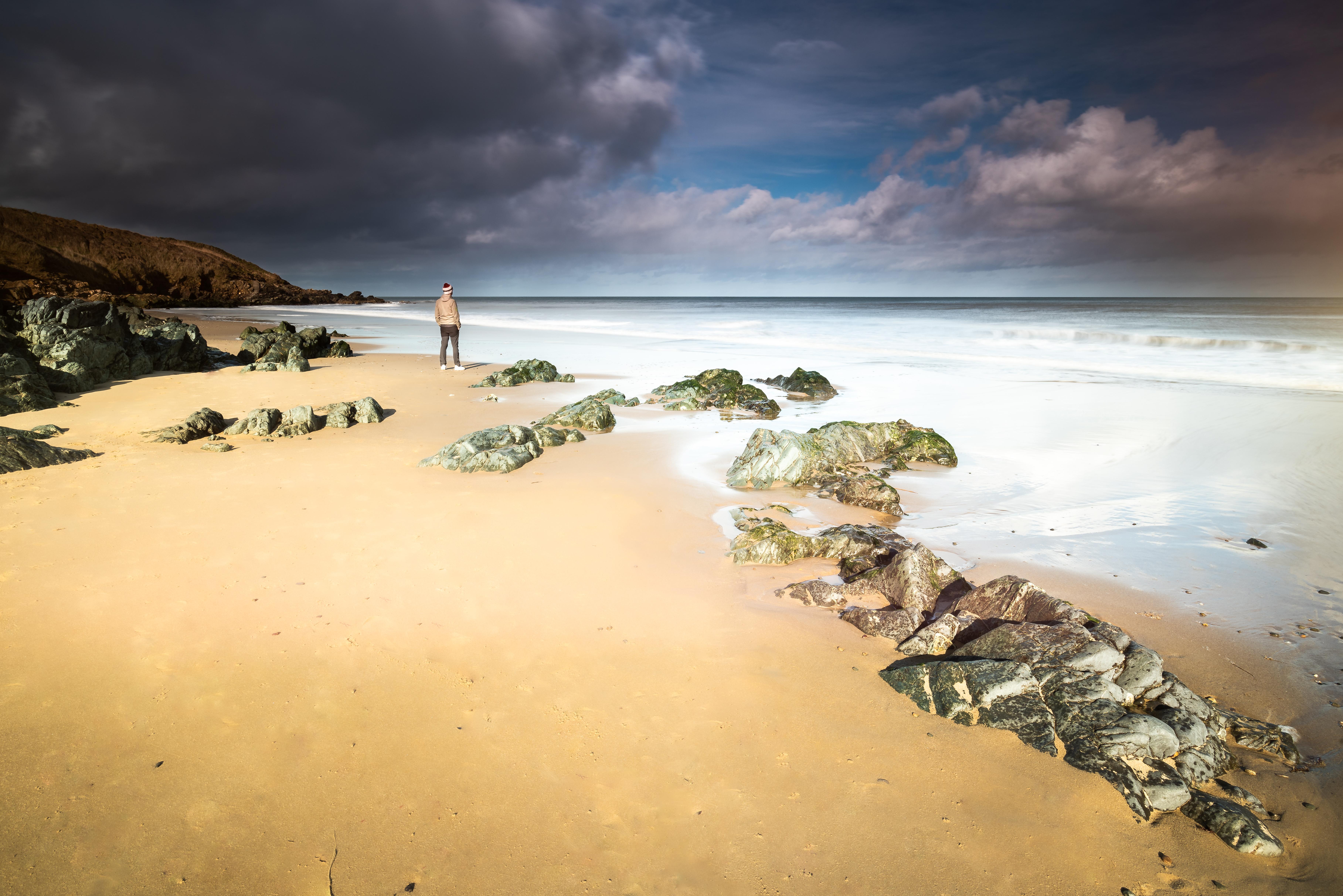 Cahore Beach Wexford Ireland Clouds Rock